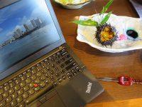 ThinkPad X260と松島産生ウニ