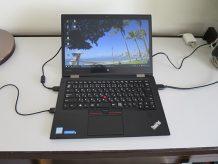 ホテルについてThinkPad X1 Yoga