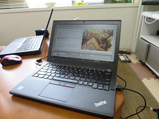 ThinkPad X260 ドリームウィーバーでwebサイト作成