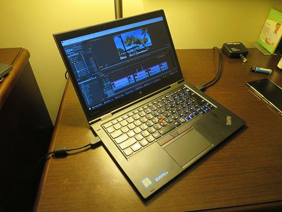 ThinkPad X1 Yoga NVMEで動画編集