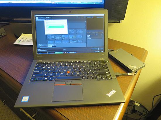 ThinkPad X260とThinkPad Stack 1TB HDDで動画取り込み
