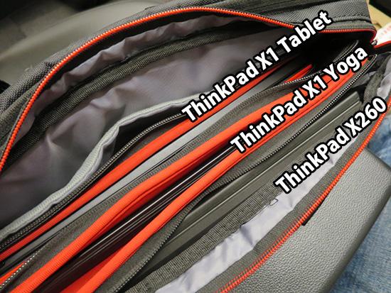 X1 Tablet X1 Yoga X260 3台を入れたバッグ