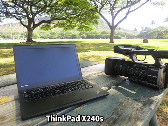 ThinkPad X240s とHXR-NX3 SONY業務用ビデオカメラ