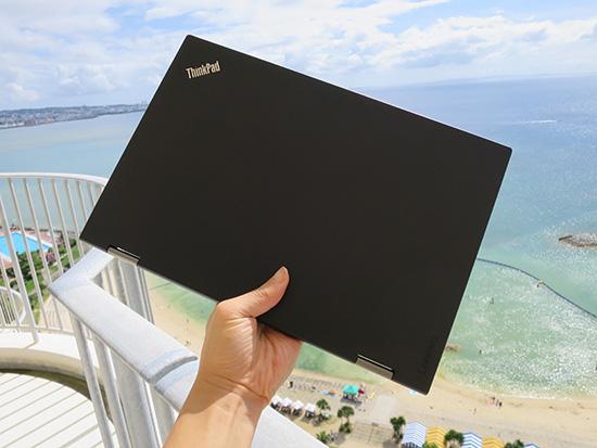 ThinkPad X1 Yoga 沖縄 片手で持つ