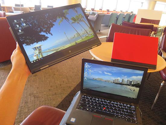 ThinkPad X1 Yoga X260 X1 Tabletを同時に3台持って行って気づいたこと