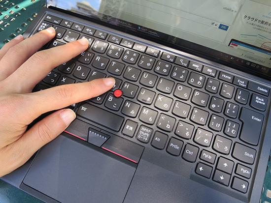 ThinkPad X1 Tabletのキーボード 慣れると高速にタイピングできる