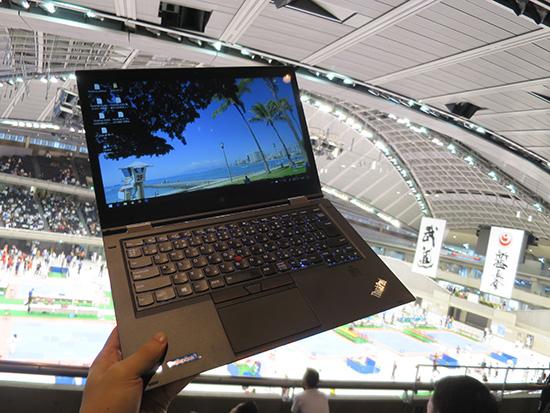 カラテドリームフェスティバル2016で応援しながら映像撮影 のち ThinkPad X1 Yoga