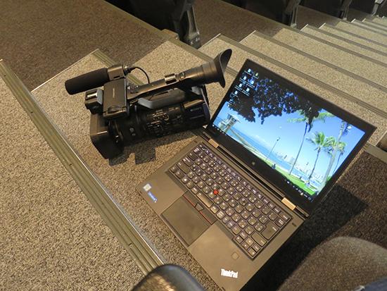出先でThinkPad X1 Yogaを使って動画編集をしておくと