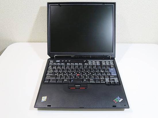 ThinkPad R40e 正面から