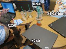 ThinkPad X260 2台とX250 X1 Carbon