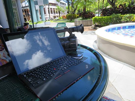 X1 tabletをハワイで使ってみた・・・