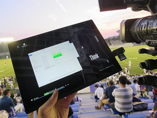 X1 Tablet USB端子からカードリーダーを介して映像ファイルをコピー