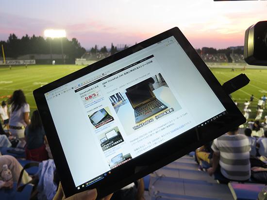 X1 Tablet画面がはめ込み合成みたいにきれい