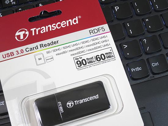 トランセンド USB3.0 カードリーダー スティック型