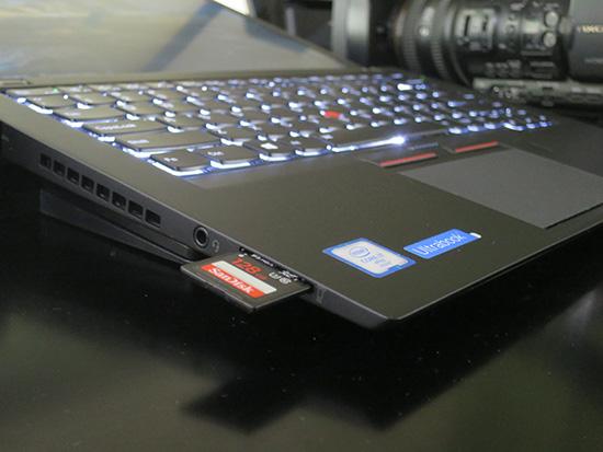 T460s SDカードスロットから動画を取り込み