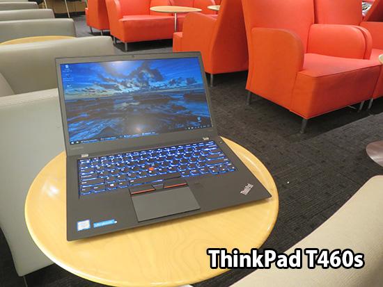 Thinkpad T460s はホテルの部屋でデスクトップPC代わりに使う