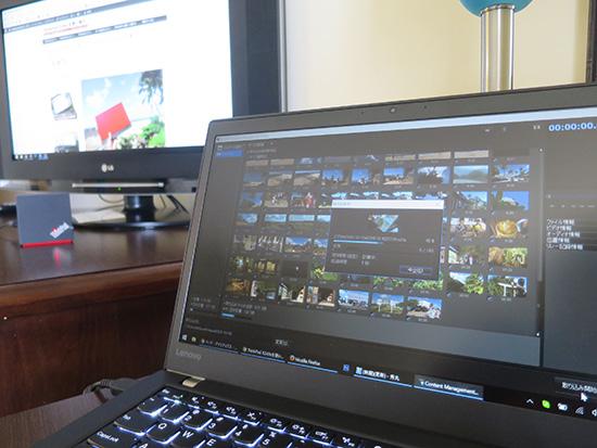 T460sで業務用カメラの映像を取り込み