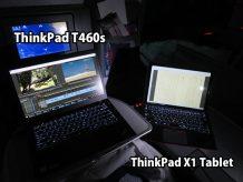 ThinkPad T460s と X1 Tablet 飛行機内で使い分け