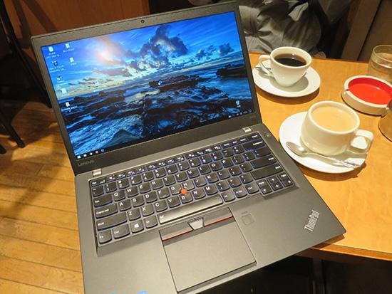 喫茶ブラジルでThinkPad T460s