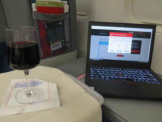 赤ワインで乾杯!