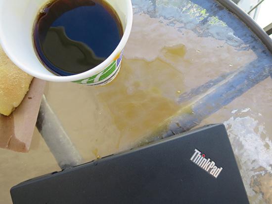 ThinkPad X260にコーヒーをこぼした・・・