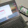 ファイナルデータ で 壊れたHDDを復旧できるか ThinkPad X240s につなげて試してみる