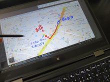 ThinkPad X1 Yoga デジタイザーペンを使って道案内 これが意外と好評です