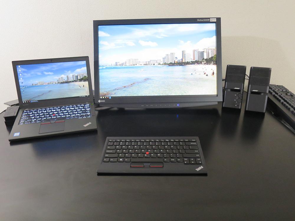 事務所では X260はHD解像度 EIZOモニタは WUXGAで使用中