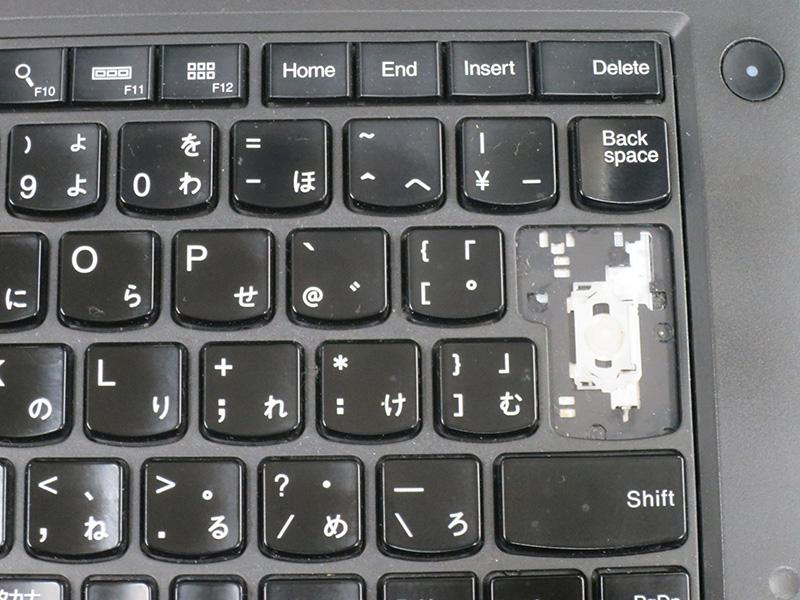 ThinkPad T440p エンタキーがとれたまま使ってるみたいだ