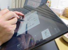 ThinkPad X1 Yoga お絵かきしてキャンプステッカーに