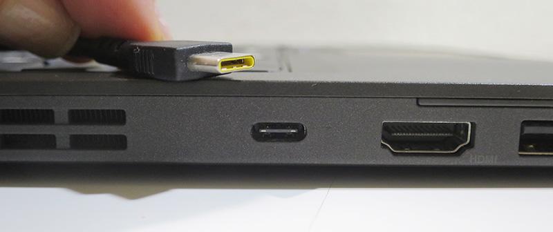 USB Type C端子と電源端子