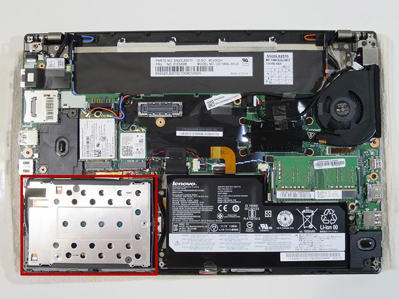X270 PCIe NVMe 内部構成 分解写真