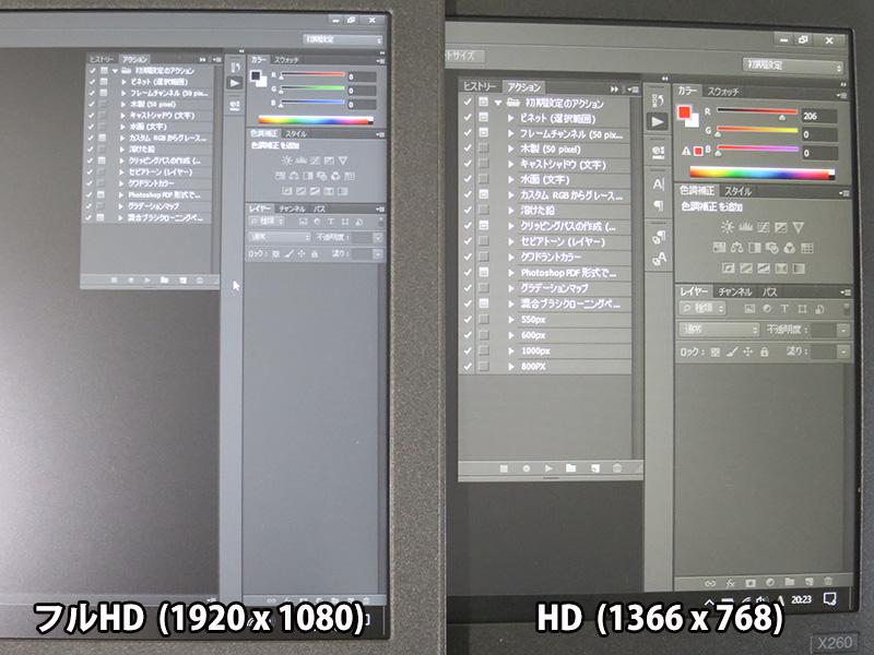 Photoshop CS6 ツールボックスが小さいFHD液晶