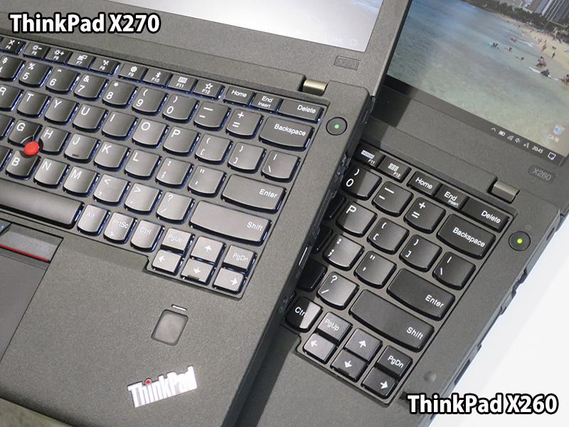 ThinkPad X270 エンター部分が静かに打てる