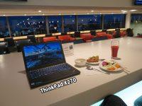 ThinkPad X270 出張前 空港ラウンジで一仕事