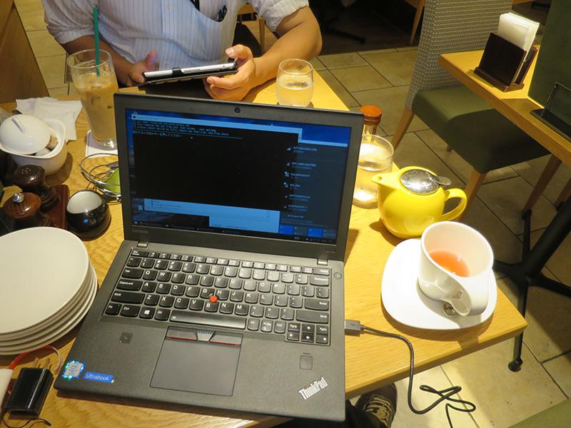 ThinkPad X270 カフェでLTE