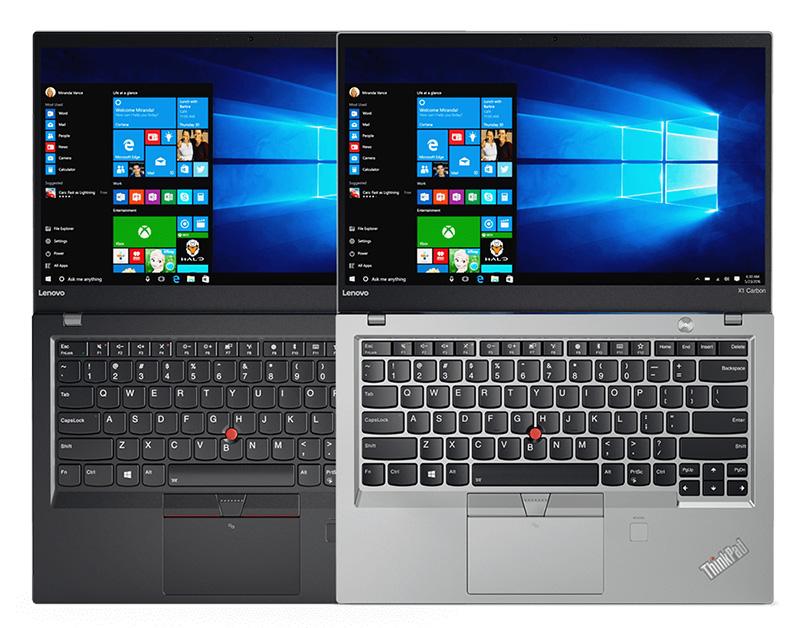ThinkPad X1 Carbon ブラックシルバー 上から