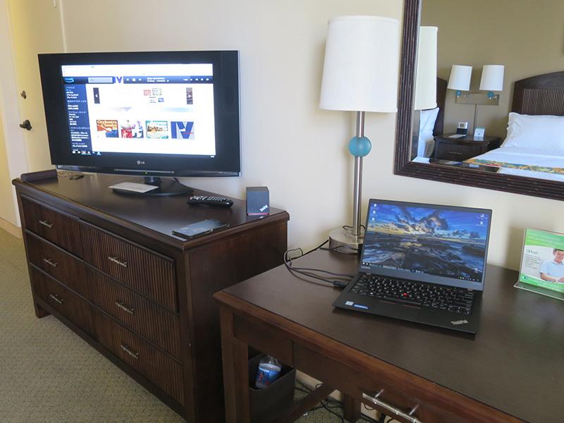 HDMI出力をすると音声がテレビから流れる