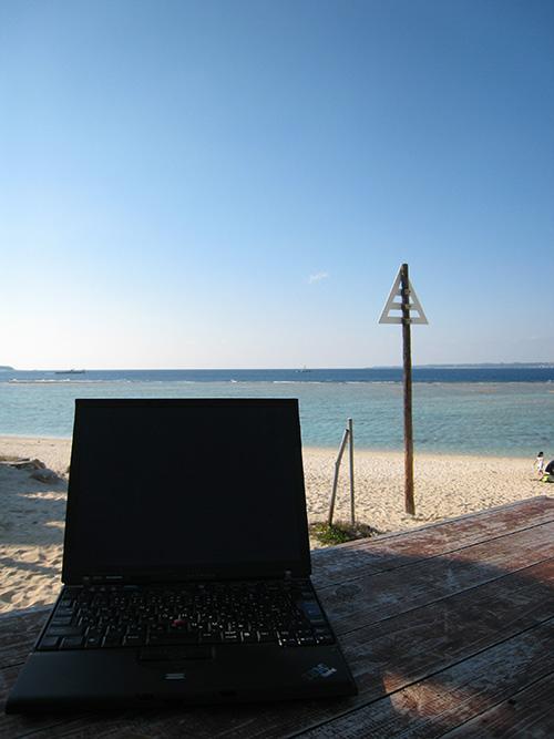 ThinkPad X60s 沖縄で使ったときは液晶は真っ暗