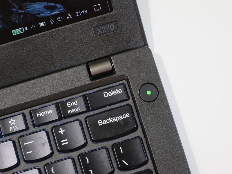 X270 電源ボタン 緑のLEDランプ