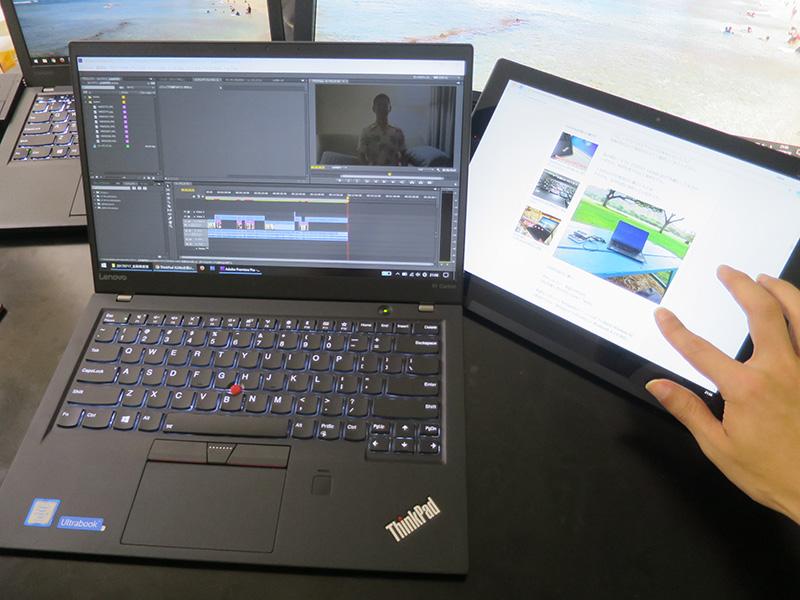 拡張すればタブレットでタッチ操作しながらメインPCで作業が便利