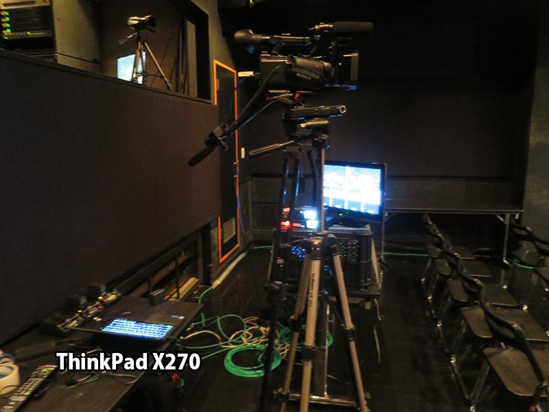 ThinkPad X270 SDカードスロット 信頼性抜群 ライブ会場で映像取り込み