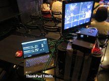 ATEM Television Studio スイッチャーにタッチパネルのThinkPad T460s