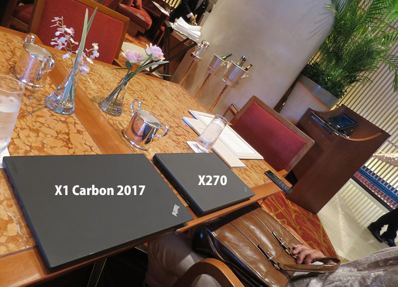 x1 carbon 2017 X270とペニンシュラ東京のThinkPad