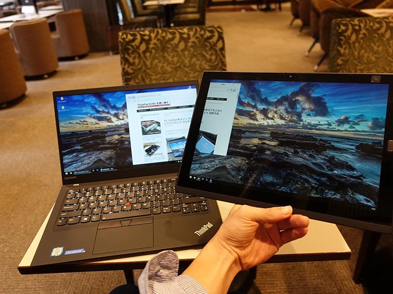 x1 Carbon 2017と x1 tablet 2016でミラキャスト