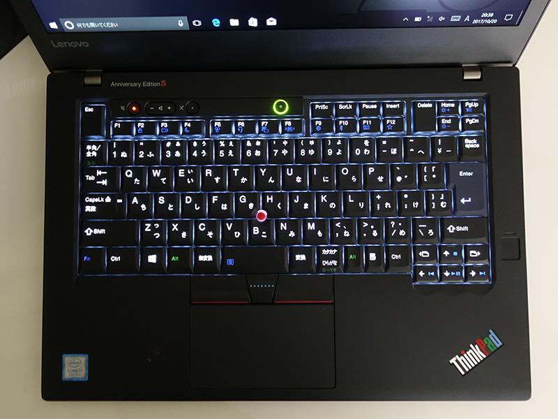 ThinkPad 25 伝統の7列キーボード