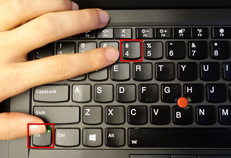 ThinkPad スリープボタンはないけれど・・・