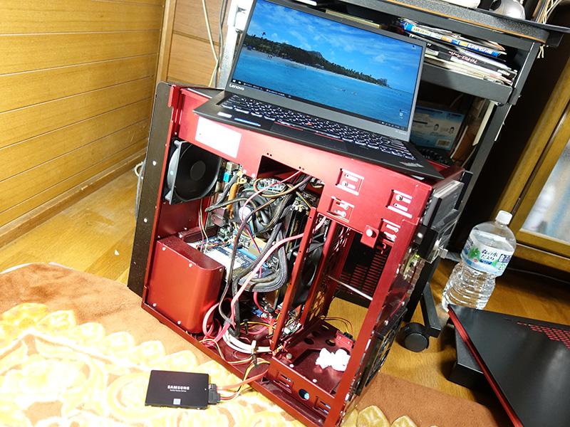 10年前の自作パソコンを復旧中