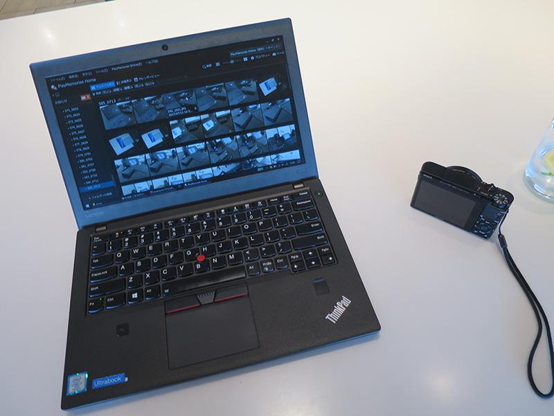 写真はThinkPadと外付けHDD両方に保存