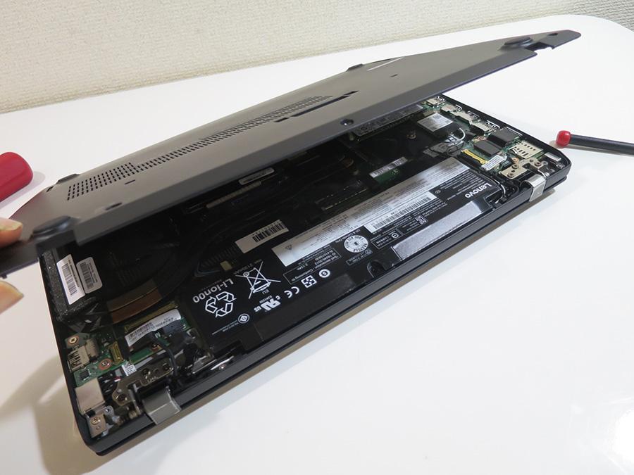 ThinkPad T470s 裏蓋が開けやすくメンテナンスが楽